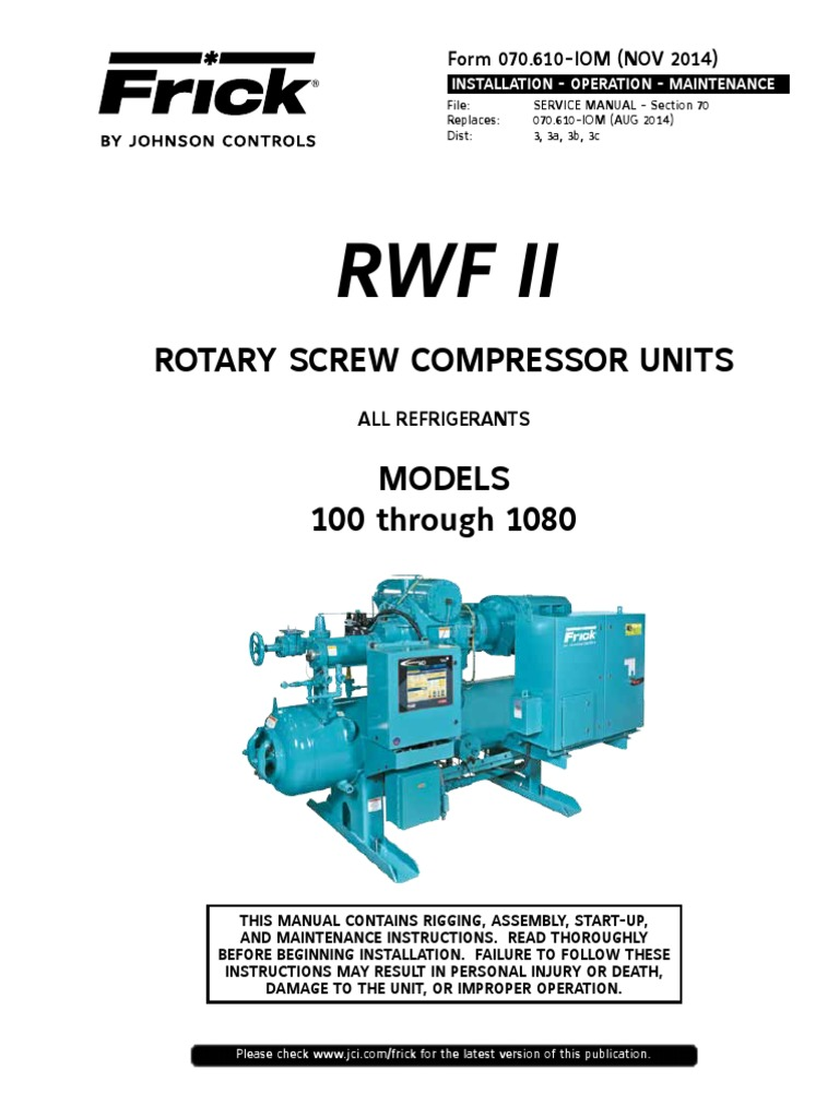 Frick Refrigeration Compressors Wiring Diagram - Illustration Of ...