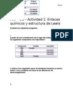 MIII – U3 – Actividad 2. Enlaces Químicos y Estructura de Lewis