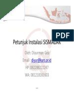 Instalasi-SISMADAK windows
