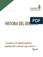 Hisotia Del Derecho
