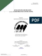 PFI ES-7 Min Spacing for Welding
