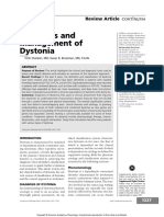Diagnosis and Management of Dystonia Continuum Agosto 2016