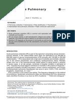 Submassive Pulmonar Embolism