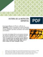 Historia de La Nutrición Deportiva