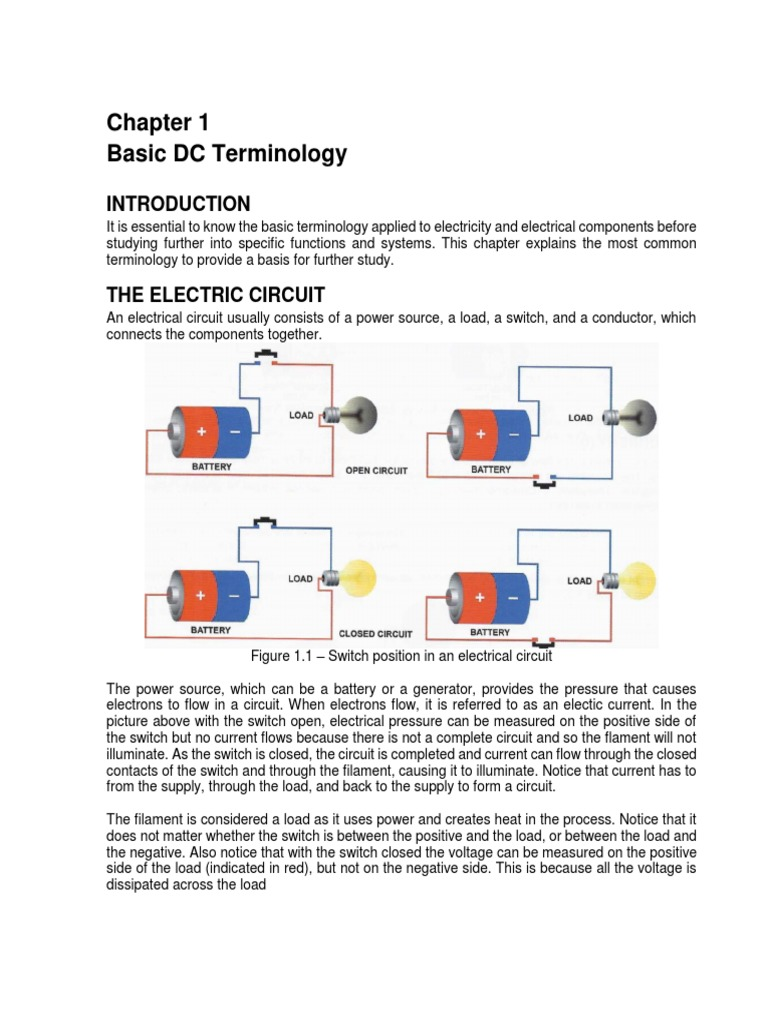 Chapter 1 Basic Dc Terminology Series And Parallel Circuits Simple Circuit Model Electrical Resistance Conductance