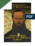 DOSTOEVSKY'S CONCEPT OF SPIRITUAL REBIRTH by Metropolitan Anthony Khrapovitsky