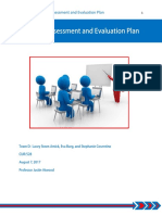 team d training assessment and evaluation plan