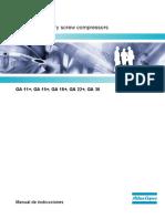 Manual de Instrucciones GA 11+, 15+, 18+, 22+ - 26+ - 30 - Serie Desde API 295000