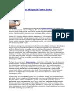 Cegah DM Dengan Mengenali Faktor Resik1