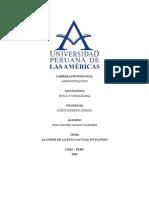Crisis de La Etica Actual en El Peru