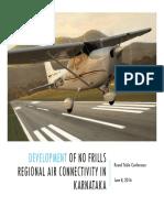 Regional Air Connectivity- Karnataka