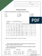 Atividade de Matematica Numeros Decimais e Porcentagem 5º Ano