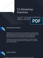 7.2 Workshop Practices