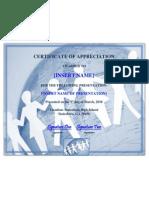 SAMPLE_Certificate for Presentation