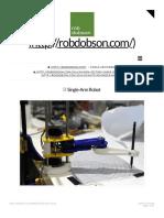 Single-Arm Robot | robdobson.com