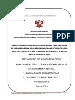 Estructura Del Proyecto de Trabajo de Investigación Para Obtener El Titulo Profesionalxxx