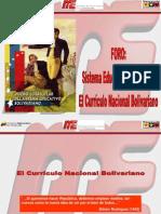 foro Sistema Educativo Bolivariano y Su currículo13