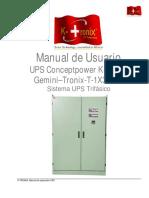 Manual K-Tronix Gemini SIMA 3KVA