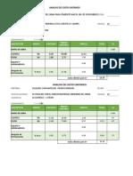 Costos Unitario de Estructura