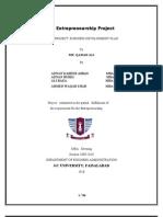 Enterprenuership Project for Garments Sticthing Unit