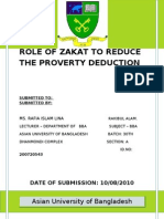 Assignment (Role of Zakat Ruduce the Proverty)