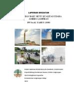 Laporan Pengkajian Baku Mutu Kualitas Udara Ambien