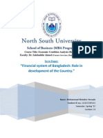 Financial System in Bangladesh_Role in Development of the Country