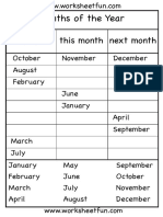 Months of the Year Worksheet Fun 4
