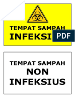 Label Tempat Sampah