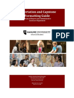 Dissertation and Capstone Formatting Guide Revised May 2015