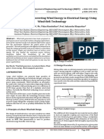 A Review Paper on Converting Wind Energy to Electrical Energy using Wind-Belt Technology