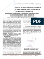 Protection and monitoring of three phase induction motor from over voltage, under voltage, single phasing, phase reversal, and overheating review