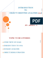 Object Oriented Analysis (1)