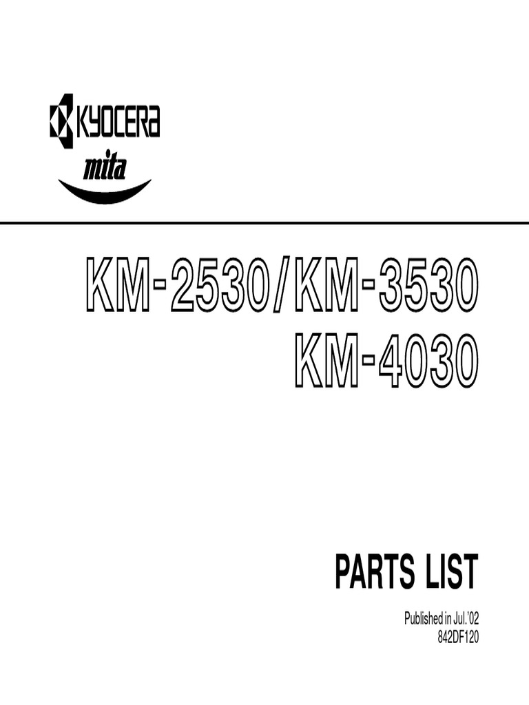 Parts List: Published in Jul.'02 842DF120