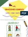 Oraciones Simples s v o