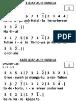 Ungkup 138 - Kare Ajar Auh Hatalla