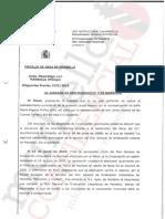 Escrito del fiscal Julio Martínez Carazo
