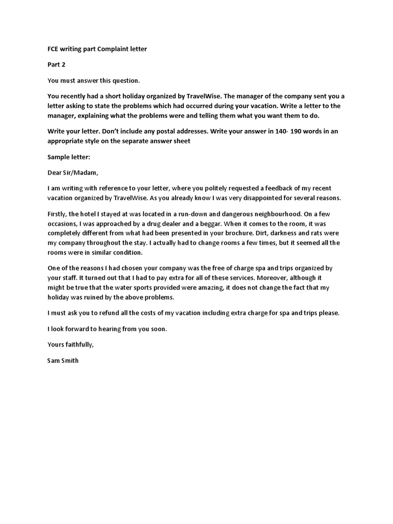 an holiday complaint letter template how to make a restaurant menu