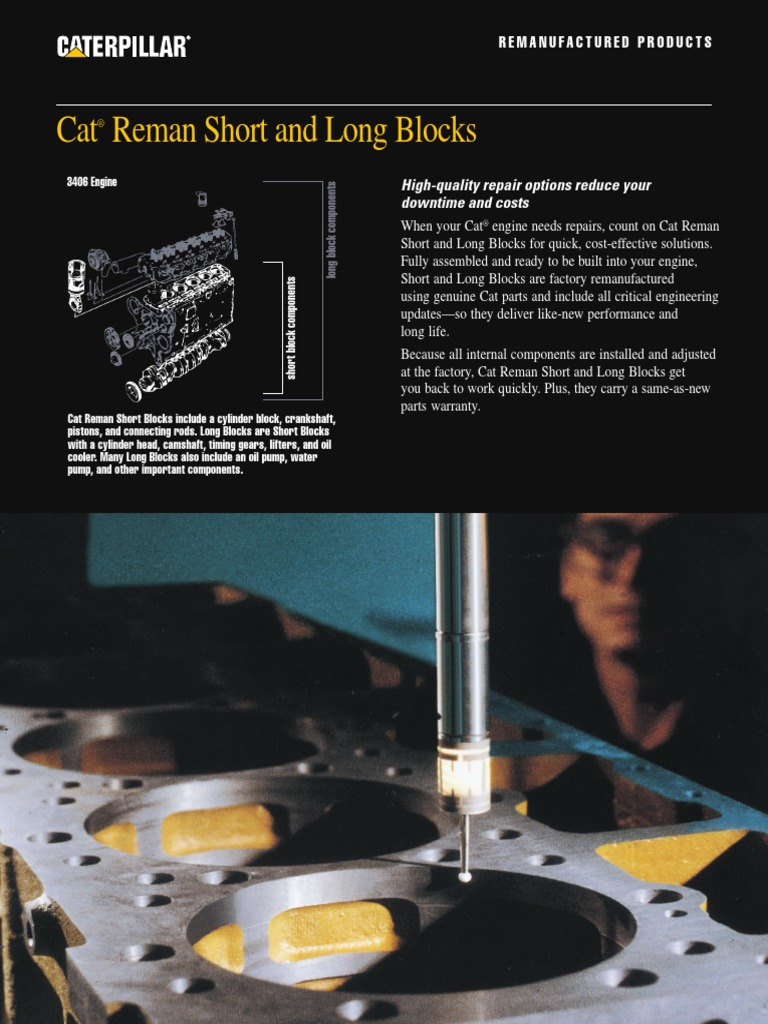 3406 Long Block Pehp3036 00 Cylinder Engine Internal 3406e Cat Timing Diagrams Combustion