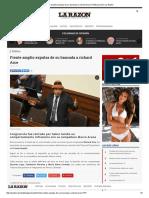 Frente Amplio Expulsa de Su Bancada a Richard Arce _ Politica _ Diario La Razón