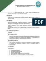 Esquema Del Informe Final Del Trabajo de Investigacion Cientifica