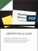 Republica y Democracia