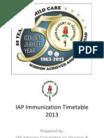 App for IAP Immunization Timetable 2013