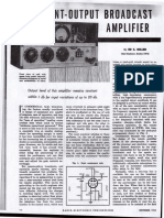 Constant Output Broadcast Amplifier