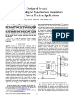 A7. Design of Several Permanent Magnet Synchronous Generators for High Power Traction Applications