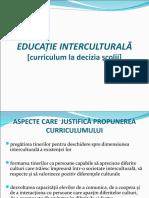 Model de Proiectare Curriculara - Educatie Interculturala