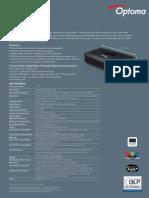 IBJSC.com | I-WEB.com.vn - Optoma PK301 Datasheet