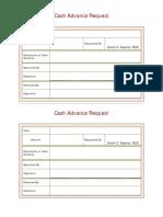 Cash Adv Form
