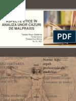 Aspecte Etice În Analiza Unor Cazuri de Malpraxis