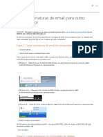 Copiar Assinaturas de Email Para Outro Computador - Outlook